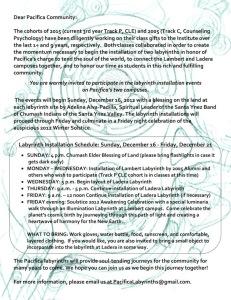Pacifica Labyrinth Installation • 16 Dec 12